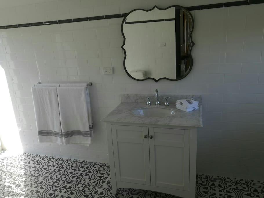 Newly renovated luxurious bathroom