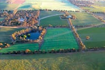 Aerial view of our 80acre property...and NO neighbours!