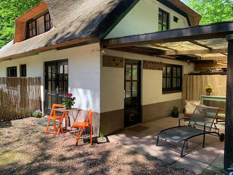 Rietgedekt guesthouse met sauna, bosrijke omgeving