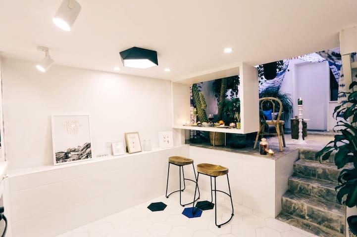【月光森林】法租界咖啡醇香街 热带森系沙滩LOFT( 嘉善路靠近永康路 / 近地铁10号线 - Shanghai - Haus