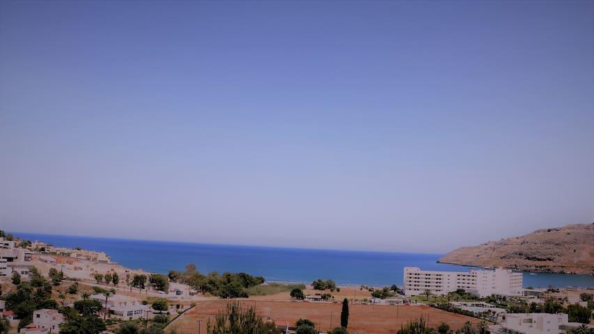 ΛΙΝΔΟΣ ξενώνας με θεα θαλασσα Guesthouse Seaview