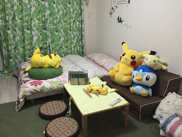 Pokemon room. 6min from Hakata sta.