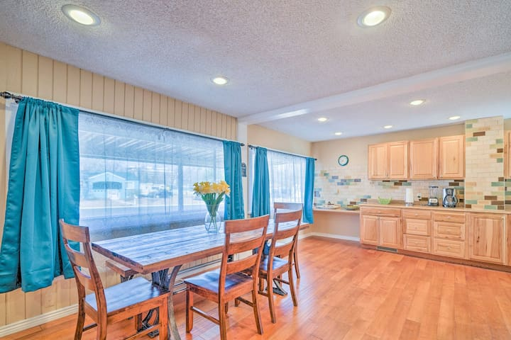 This 4-bedroom, 2-bath home is located in a quiet neighborhood.