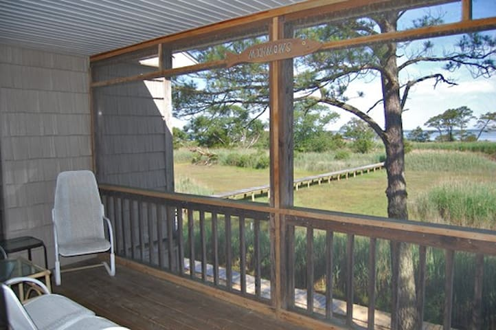 Screened balcony off Master Queen Bedroom