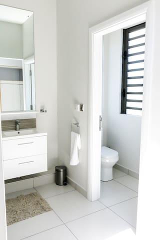 Master en-suite Bathroom with separate Toilet