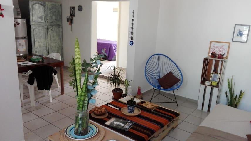 Habitación individual con baño privado y terraza - San Pedro Garza García