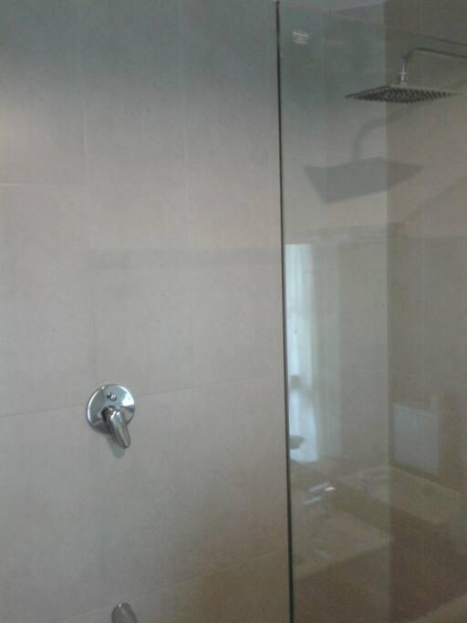 modern attached bathroom