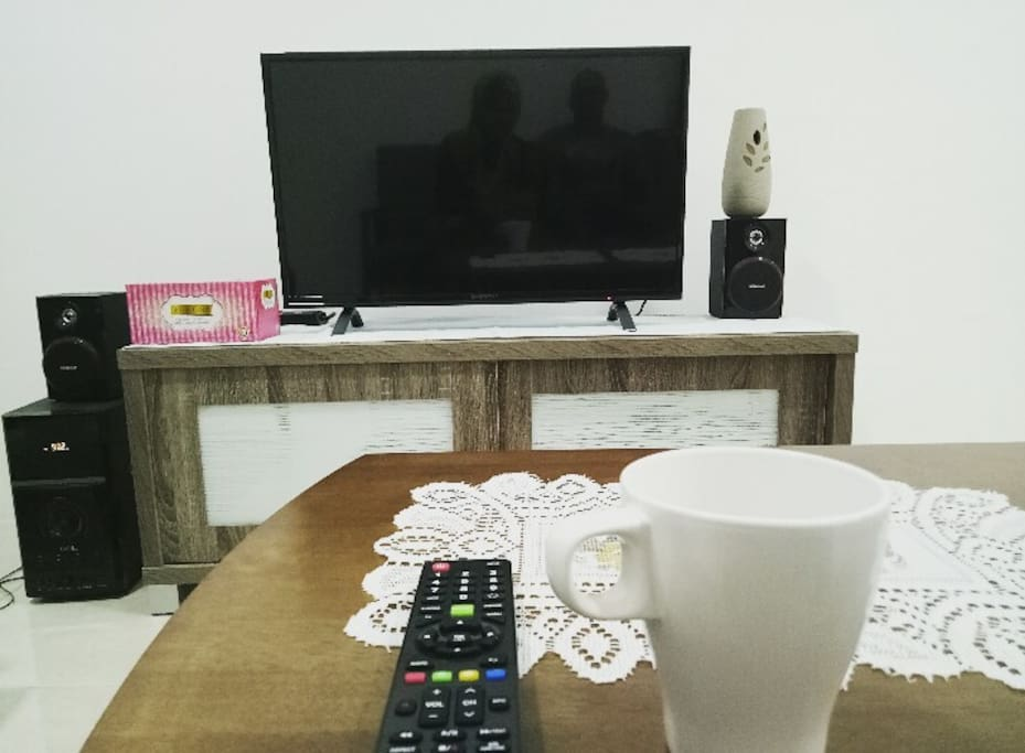 We provide internet TV along with Bluetooth speaker for you. For time being, our homestay still dont have internet connection yet. You need to use your own internet data to access for youtube. We still upgrading our service, and internet connection will provided soon.