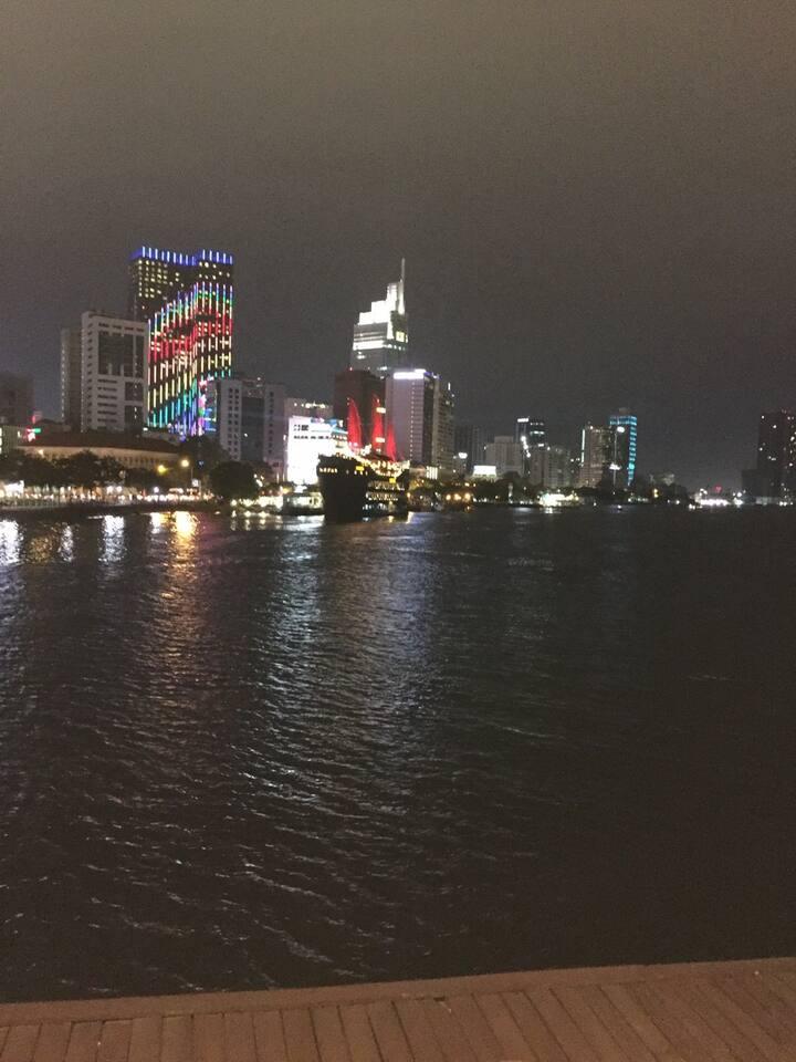 Saigon Night View on Board