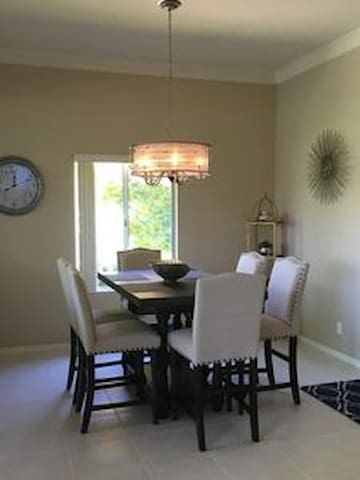 Our New Dining Room Table/Chairs just off the New Kitchen and Wet Bar.