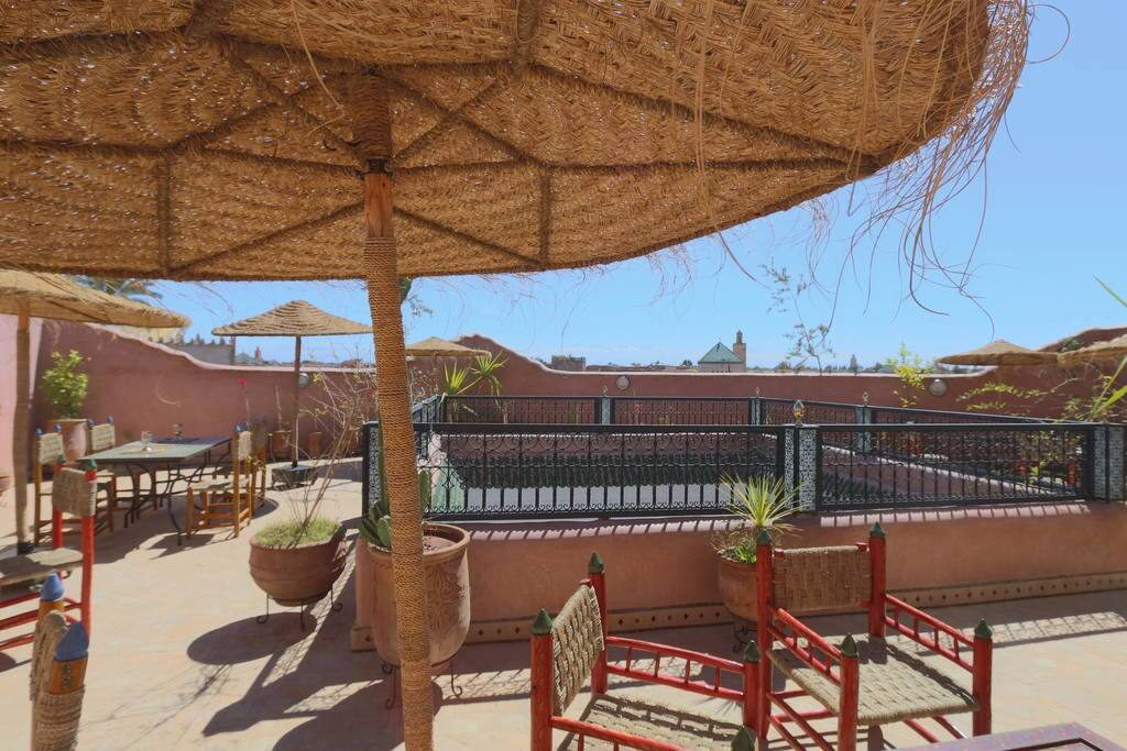 Riad marrakech room a david neel bed and breakfasts for for Airbnb marrakech