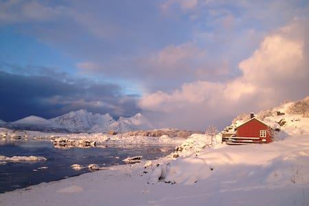Seafront Lofoten cottage, incl an Arctic Dome + +