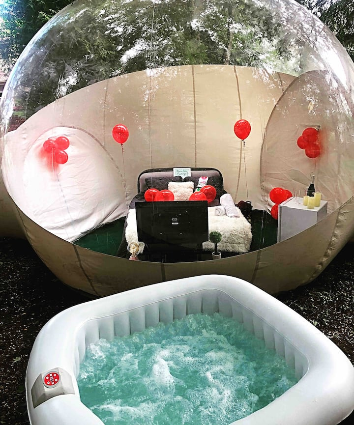 ❤️Romantic Bubble Tent Private Spa Under The Stars