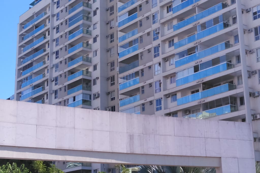Vista dos apartamentos
