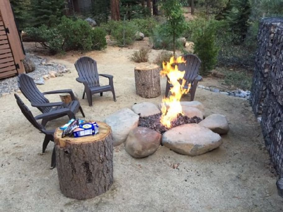 fire pit - great for smores