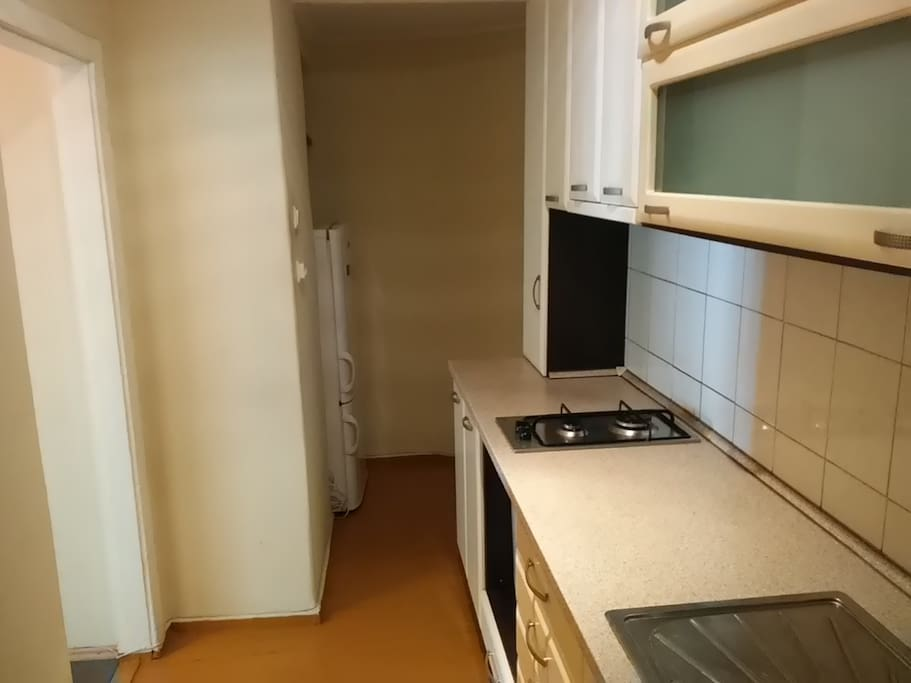 Kitchen with fridge