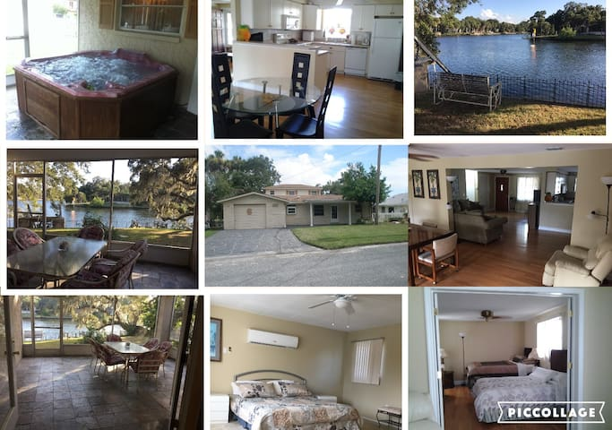 Waterfront 3/3 Home/Dock, direct to Gulf of Mexico - New Port Richey - Huis