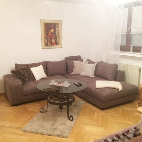 Wohn - und Esszimmer mit Schlafgelegenheit für 2 Personen (Raum 1)