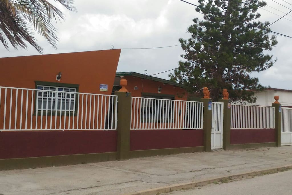 fence with pave road