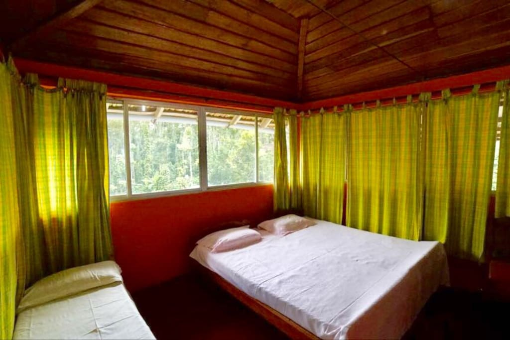 Bed room with nature's view