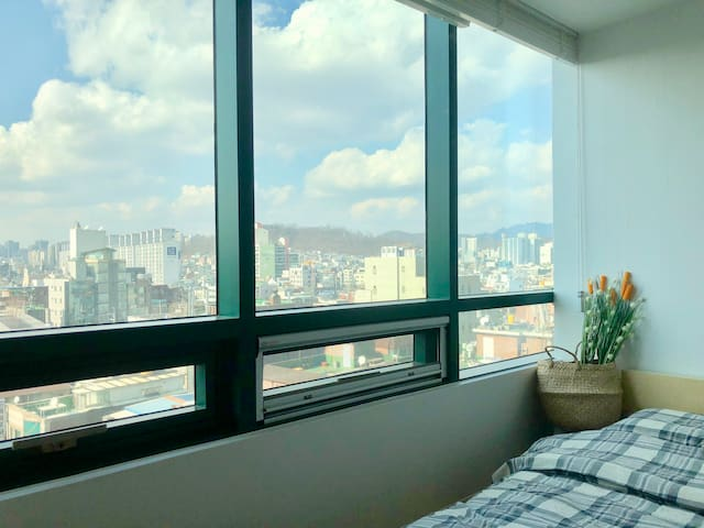 [City view4]Hongdae cozy room/Hongik univ.stn.1min