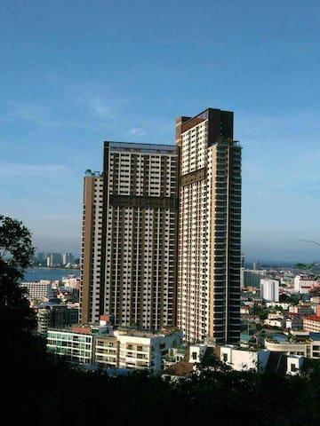 20【山景南、中天海】泳池景UNIXX一房一厅高档度假公寓 - Pattaya City - Apartemen
