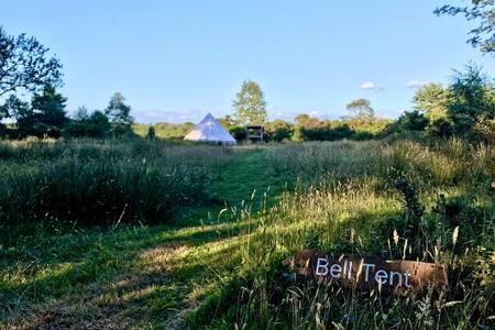 Luxury Bell Tent overlooking the heath