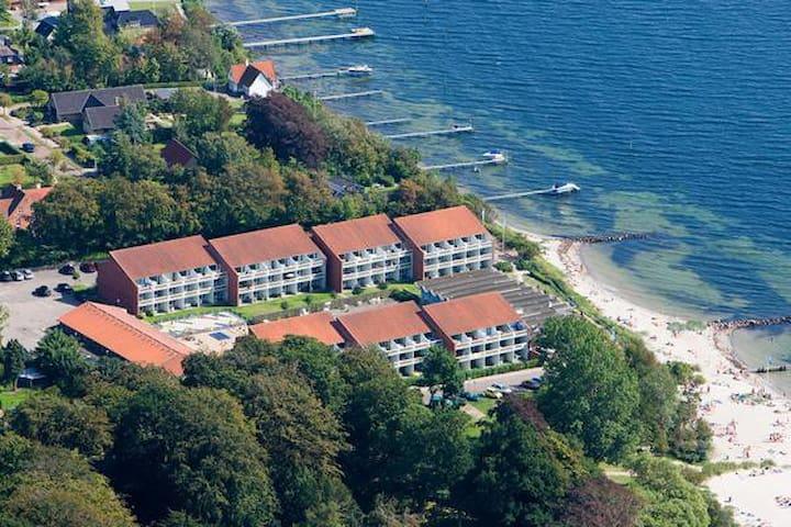 Lækker ferielejlighed med havudsigt & stor balkon - Faaborg