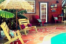 Gloria's Cabin by the Pool,...Shared Patio
