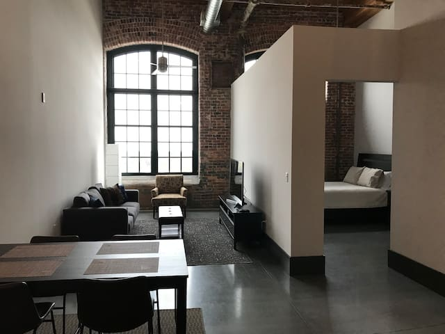 Modern Loft Apartment In Restored Historic Bldg