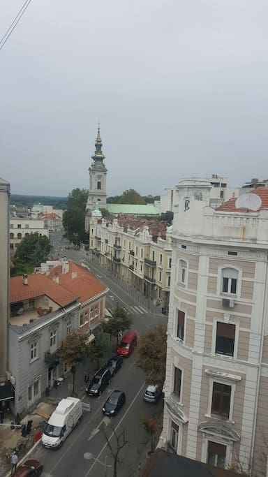 View from balcony , Cathedral, Patriarchy Building