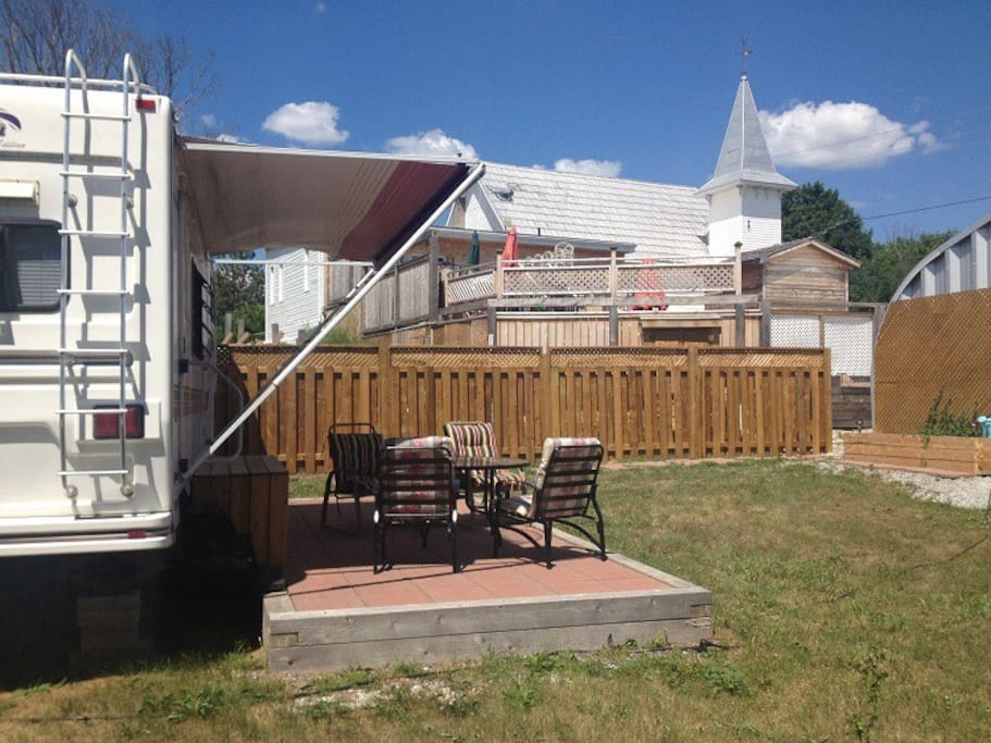 The RV sits alongside the Day Spa for easy access, at no extra charge.