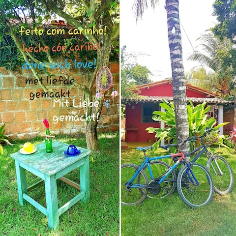 Vaga individual em chalé charmoso, com bike free!