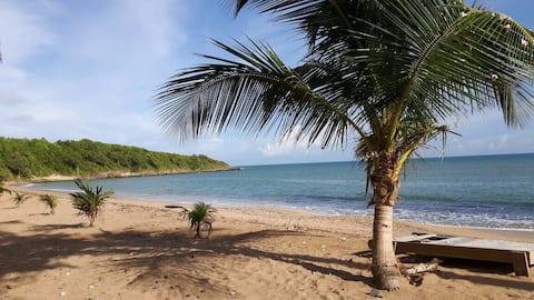 Bungalow sur magnifique plage  -Le Nid d'Amande