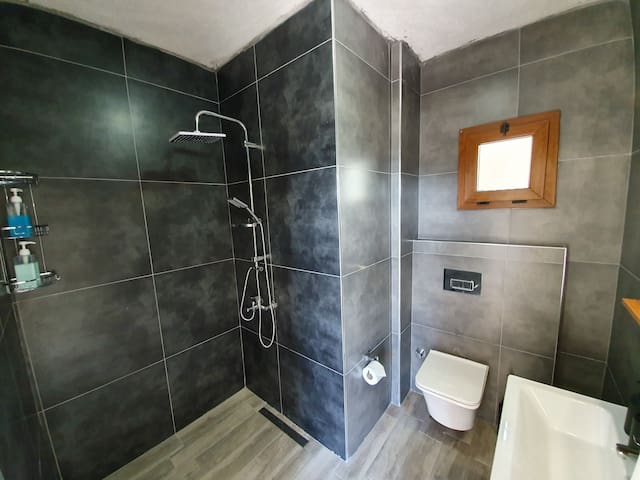 The new master bedroom ensuite bathroom with shower