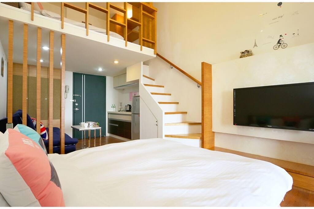 樓下雙人床