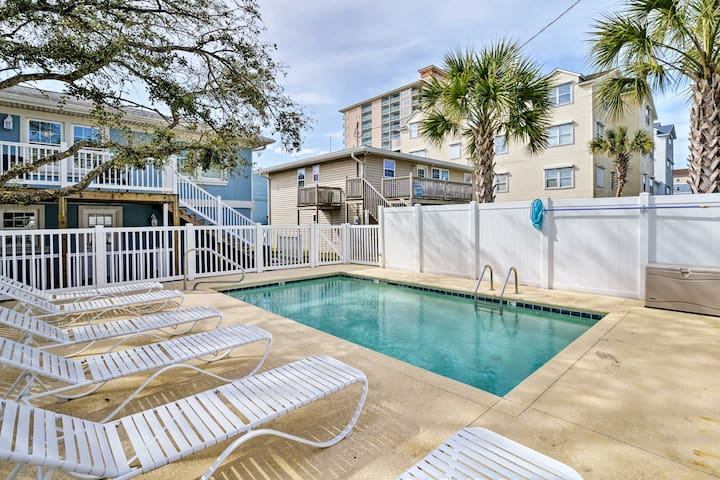 NEW! Duplex 100 ft to Ocean & Mins to Attractions
