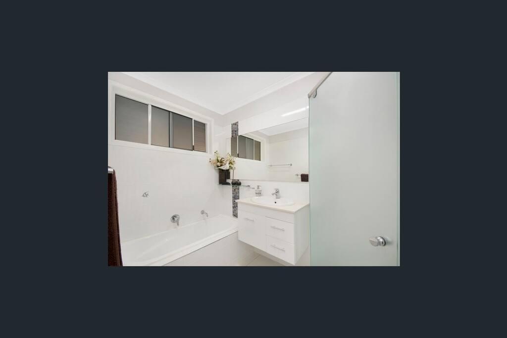 Our modern main bathroom