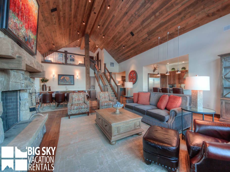 Big Sky Resort, Cowboy Heaven Luxury Suite 7D, Living, 3