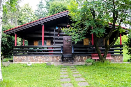 Authentic chalet in private park next to Udine
