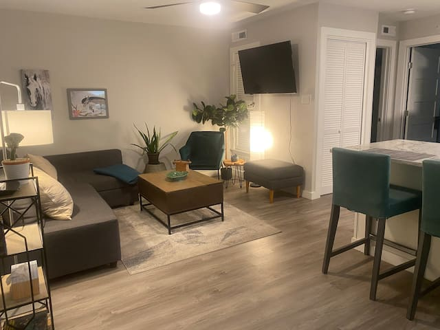 Comfortable 1bed/1bath apartment with a nice livingroom area.