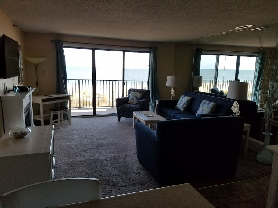 Beautiful view of the beach right from your living room
