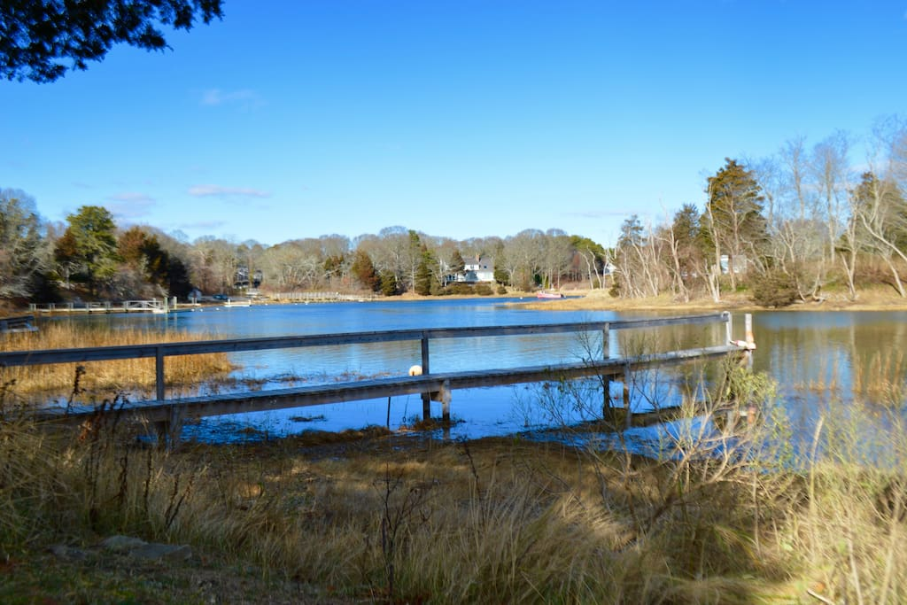 View of private dock 2 minute walk from house or you can drive
