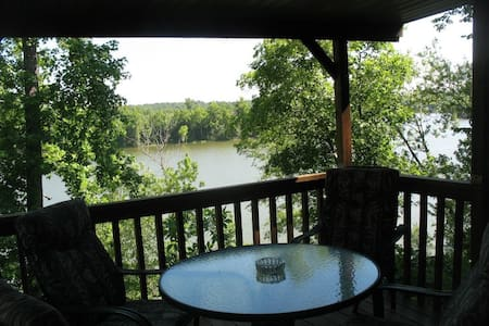 Comfortable Lake View Cabin with Covered Deck - Williamsville