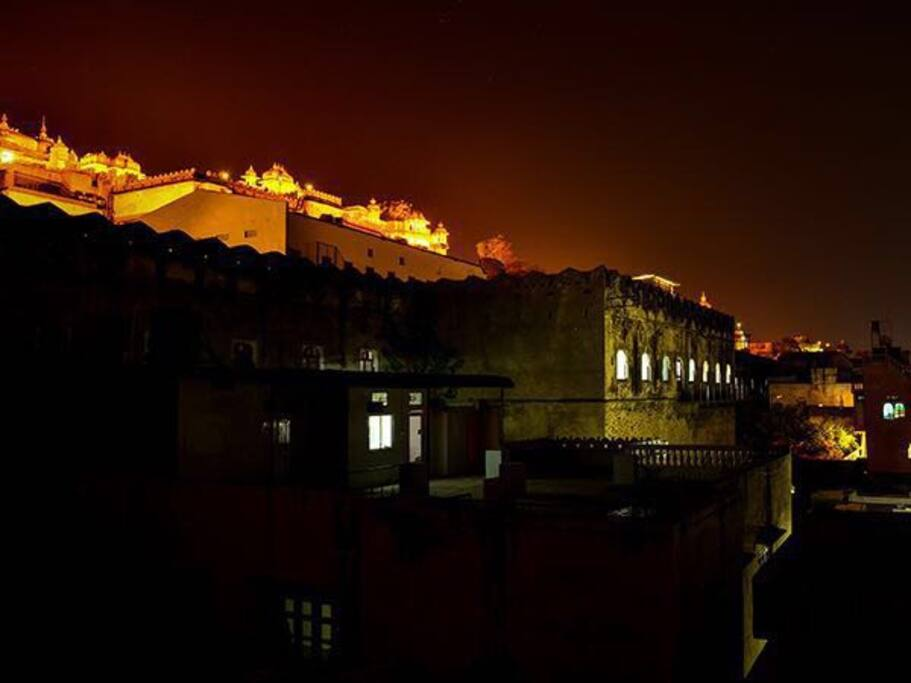 View of Walls of the City Palace Udaipur !