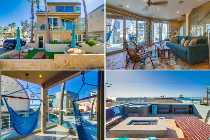 Ocean Views, Hot Tub, Firepit,hammock chairs
