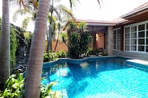 Great Private Pool with Waterfall