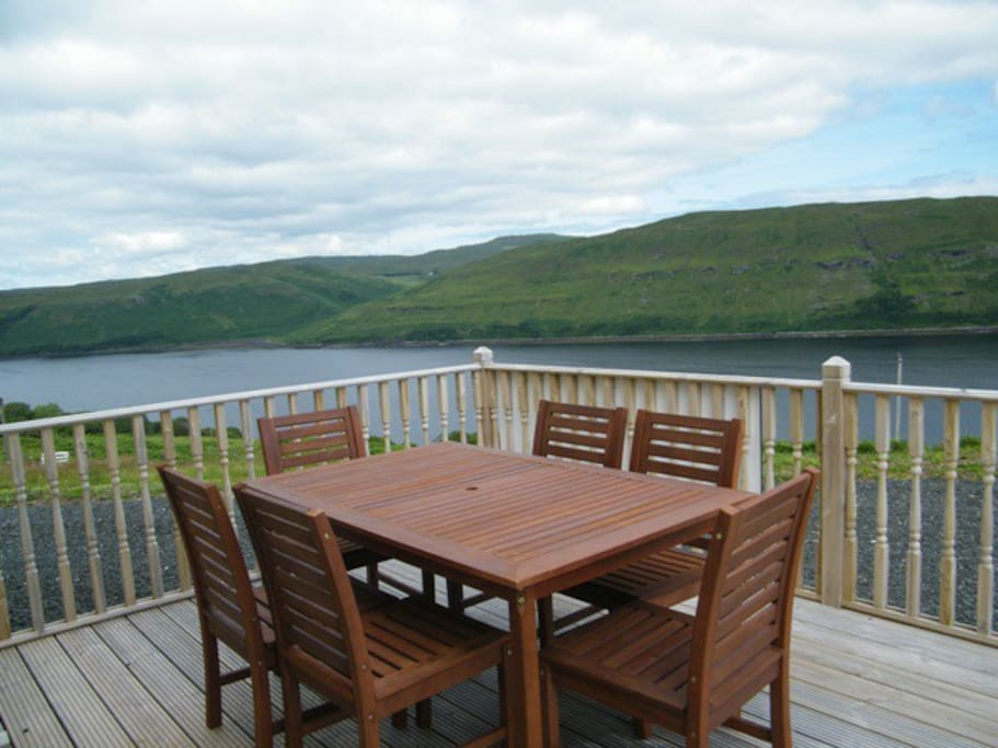Decking accessed from kitchen