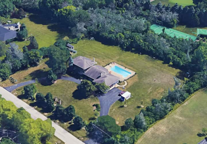 Safe private retreat on two acres with heated pool