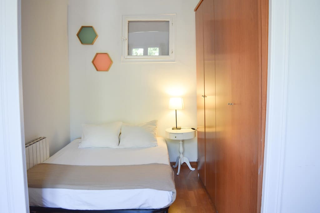 Large double bedroom with private space and balcony